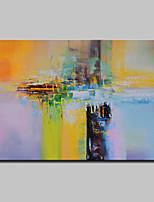 baratos -Pintura a Óleo Pintados à mão - Abstrato Modern Incluir moldura interna / Lona esticada