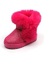 Недорогие -Девочки Обувь Искусственная кожа / Искусственный мех Зима Зимние сапоги Ботинки Пайетки для Дети / Для подростков Черный / Пурпурный / Розовый