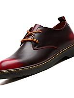 Недорогие -Муж. Армейские ботинки Полиуретан Зима Туфли на шнуровке Серый / Коричневый / Красный