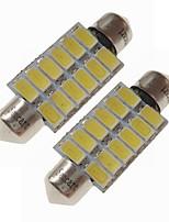 abordables -SENCART 2pcs 39mm Automatique Ampoules électriques 6 W SMD 5730 360 lm 12 LED Éclairage intérieur / Éclairage extérieur Pour