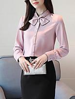 Недорогие -женская блузка - сплошная шея экипажа