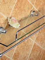 Недорогие -Полка для ванной Новый дизайн / Cool Современный стекло / Металл 1шт Двуспальный комплект (Ш 200 x Д 200 см) На стену