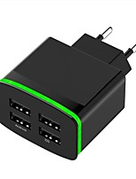 abordables -Chargeur Portable Chargeur USB Prise UE Sorties Multiples 4 Ports USB 4 A DC 5V pour