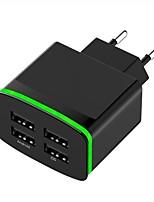 Недорогие -Портативное зарядное устройство Зарядное устройство USB Евро стандарт Несколько разъемов 4 USB порта 4 A DC 5V для