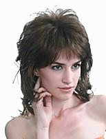 abordables -Perruque Synthétique Femme Bouclé Noir Coupe Dégradée Cheveux Synthétiques 20 pouce Classique / Synthétique Noir / Marron Perruque Long Sans bonnet Marron Noir