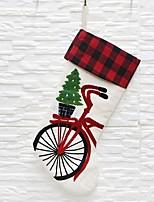 Недорогие -Праздничные украшения Рождественский декор Рождество / Рождественские украшения / Рождественские чулки Праздник Белый 1шт
