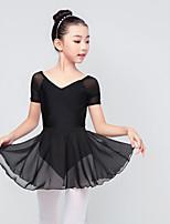 abordables -Danse classique Tenue Fille Entraînement / Utilisation Elasthanne / Lycra Ruché Manches Courtes Jupes / Haut