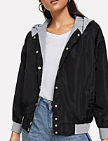 Недорогие -женская длинная куртка - сплошной цвет с капюшоном