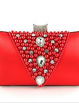 Недорогие -Жен. Мешки Полиэстер Вечерняя сумочка Молнии Красный