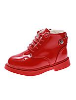 Недорогие -Мальчики / Девочки Обувь Искусственная кожа Осень Зимние сапоги Ботинки Молнии для Дети Черный / Красный