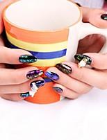 billiga -1 pcs Glitter Paljetter Genomskinligt klistermärke / Miljövänlig / Färgskiftande Nyhet nagel konst manikyr Pedikyr Dagligen / Maskerad / Thanksgiving Asiatisk / Mode