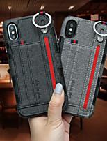 Недорогие -Кейс для Назначение Apple iPhone XR / iPhone XS Max Бумажник для карт Кейс на заднюю панель Однотонный Твердый текстильный для iPhone XS / iPhone XR / iPhone XS Max