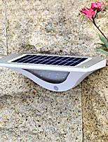 Недорогие -1шт 4.5 W Солнечный свет стены Работает от солнечной энергии / Инфракрасный датчик / Декоративная Белый 3.7 V Уличное освещение 16 Светодиодные бусины
