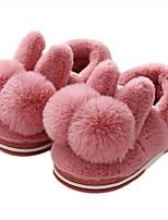 Недорогие -Девочки Обувь Хлопок Зима Удобная обувь / Меховая подкладка Тапочки и Шлепанцы Пом пом для Дети Светло-лиловый / Розовый / Светло-Розовый