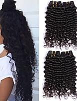 Недорогие -3 Связки Малазийские волосы Крупные кудри Натуральные волосы / Необработанные натуральные волосы Wig Accessories / Подарки / Косплей Костюмы 8-28 дюймовый Естественный цвет Ткет человеческих волос