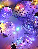 Недорогие -HKV 4м Гирлянды 10 светодиоды Тёплый белый / RGB Водонепроницаемый / Для вечеринок / Декоративная Аккумуляторы AA 1шт