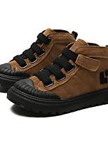 Недорогие -Мальчики / Девочки Обувь Свиная кожа Зима Армейские ботинки Ботинки На липучках для Дети Черный / Коричневый / Хаки