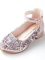 abordables -Fille Chaussures Polyuréthane Printemps & Automne Chaussures de Demoiselle d'Honneur Fille Chaussures à Talons Paillette pour Enfants / Adolescent Noir / Argent / Rose