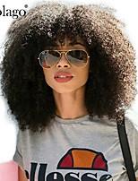 Недорогие -Натуральные волосы Лента спереди Парик Бразильские волосы Афро Квинки Парик Глубокое разделение Боковая часть 250% Плотность волос с детскими волосами Подарок Горячая распродажа Удобный Нейтральный