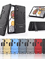 Недорогие -Кейс для Назначение Xiaomi Mi 8 SE Защита от удара / со стендом Кейс на заднюю панель Однотонный Твердый ПК для Xiaomi Mi 8 SE