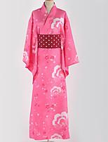 abordables -Inspiré par Aime la vie Cosplay Manga Costumes de Cosplay Costumes Cosplay / Kimono Floral / Botanique / Motif Accessoires de taille / Veste Kimono Pour Homme / Femme