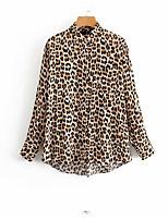 Недорогие -Жен. Рубашка Классический Леопард