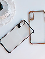 baratos -Capinha Para Apple iPhone XR / iPhone XS Max Antichoque / Galvanizado / Ultra-Fina Capa traseira Sólido Macia TPU para iPhone XS / iPhone XR / iPhone XS Max