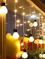baratos -1.5m Cordões de Luzes 48 LEDs Branco Quente Decorativa 220-240 V 1conjunto