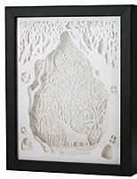 abordables -1pc Veilleuse 3D Blanc Chaud USB Créatif / Décoration 5 V