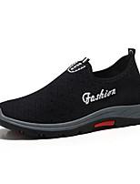 Недорогие -Муж. Комфортная обувь Сетка / Tissage Volant Зима На каждый день Мокасины и Свитер Нескользкий Черный / Синий