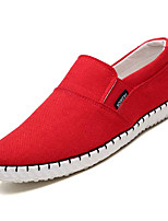 Недорогие -Муж. Комфортная обувь Лён Осень На каждый день Мокасины и Свитер Дышащий Черный / Бежевый / Красный