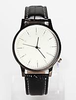 Недорогие -Муж. Жен. Наручные часы Кварцевый Повседневные часы Кожа Группа Аналоговый Мода минималист Черный / Коричневый - Черный / Белый Белый / Бежевый