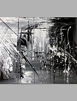 baratos -Pintura a Óleo Pintados à mão - Abstrato Modern Sem armação interna