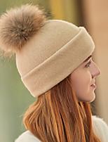 Недорогие -Жен. Винтаж / Праздник Широкополая шляпа / Лыжная шапочка Однотонный