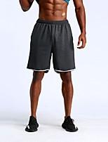 baratos -UABRAV Homens Shorts de Corrida - Cinzento Escuro, Cinzento Claro Esportes Côr Sólida Shorts Corrida, Fitness, Exercite-se Roupas Esportivas Respirável, Secagem Rápida, Redutor de Suor Micro-Elástica