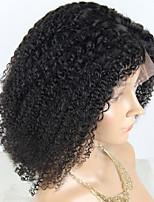 Недорогие -Не подвергавшиеся окрашиванию человеческие волосы Remy Лента спереди Парик Бразильские волосы Естественный прямой Шелковисто-прямые Парик Стрижка боб Стрижка каскад 150% Плотность волос