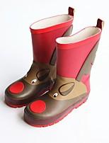 Недорогие -Девочки Обувь Синтетика Весна & осень Резиновые сапоги Ботинки для Дети / Для подростков Красный / Сапоги до середины икры