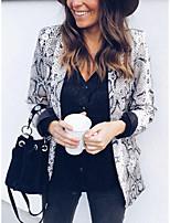 Недорогие -Жен. Повседневные / Офис Наступила зима Обычная Куртка, Креатив Европейский воротничок Длинный рукав Полиэстер Серый M / L / XL
