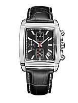 Недорогие -Муж. Спортивные часы Японский Японский кварц 30 m Защита от влаги Календарь Секундомер Натуральная кожа Группа Аналого-цифровые На каждый день Мода Черный / Коричневый - Черный Коричневый