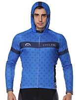 Недорогие -ILPALADINO Муж. Длинный рукав Велокофты - Синий Мода Велоспорт Джерси Верхняя часть, Ультрафиолетовая устойчивость, Зима, Эластан