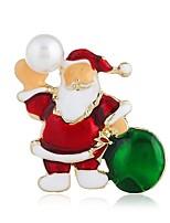 Недорогие -Жен. Классический Броши - Искусственный жемчуг Дамы, Стиль Брошь Бижутерия Золотой Назначение Рождество