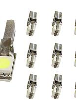 abordables -10pcs T5 Moto / Automatique Ampoules électriques 1 W SMD 5050 30 lm 2 LED Éclairage intérieur Pour Universel Universel Universel
