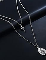 Недорогие -Жен. Двухцветные Винтажное ожерелье - Серебряный 55 cm Ожерелье Бижутерия 2 комплекта Назначение Свадьба, Для вечеринок