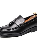 Недорогие -Муж. Официальная обувь Искусственная кожа Весна & осень Английский Мокасины и Свитер Черный / Коричневый / Свадьба / Для вечеринки / ужина