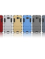 cheap -Case For Samsung Galaxy A3(2016) Shockproof / with Stand Back Cover Solid Colored Hard PC