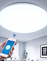 baratos -Montagem do Fluxo Luz Descendente Acabamentos Pintados Metal Proteção para os Olhos, Controle Wi-Fi AC110-240V Branco Quente / Branco Frio