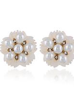Недорогие -Жен. Классический Набор серьги - Цветы Мода Белый Назначение Для вечеринок Повседневные