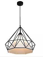 Недорогие -QIHengZhaoMing Подвесные лампы Рассеянное освещение Электропокрытие Металл Ткань 110-120Вольт / 220-240Вольт Теплый белый