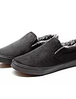 Недорогие -Муж. Комфортная обувь Полиуретан Зима На каждый день Мокасины и Свитер Сохраняет тепло Черный / Серый