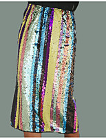Недорогие -Жен. Уличный стиль Облегающий силуэт Подол Геометрический принт / Контрастных цветов